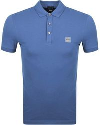 f6775cc94e BOSS by Hugo Boss Passenger Polo T Shirt Purple in Purple for Men - Lyst