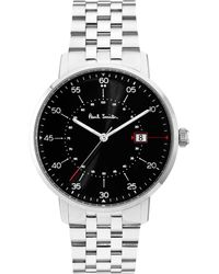 Paul Smith - Gauge Watch Silver - Lyst