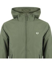 Fred Perry - Hooded Brentham Jacket Green - Lyst