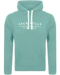 Jack Wills Batsford Popover Hoodie - Green