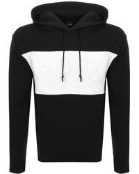 c7d4b5d4 BOSS Athleisure Black Sly Hooded Sweatshirt in Black for Men - Lyst