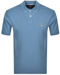 Paul Smith Ps By Regular Polo T Shirt - Blue
