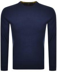 Ted Baker Seek Crew Neck Knit Sweater - Blue