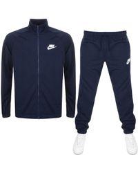 Nike Tracksuit Navy - Blue