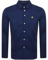 Lyle & Scott Slim Fit Long Sleeve Shirt - Blue