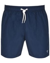 Barbour - Essential Swim Shorts Navy - Lyst