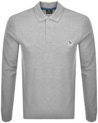 Paul Smith Ps By Regular Polo T Shirt Gray