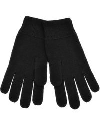 Lyle & Scott - Lyle And Scott Racked Rib Gloves Black - Lyst