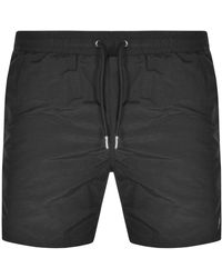 Luke 1977 Elky Piped Detail Swim Shorts - Black