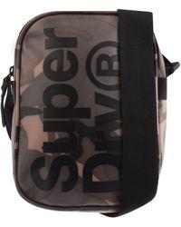 Superdry Logo Camouflage Shoulder Bag - Black