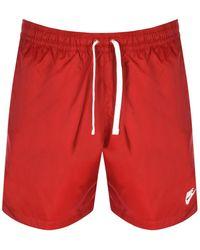 Nike Flow Logo Swim Shorts - Red