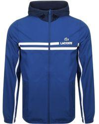 Lacoste Sport Full Zip Hooded Jacket Blue
