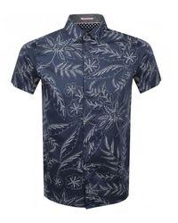 Ted Baker Short Sleeved Damiem Shirt - Blue