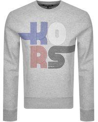 Michael Kors Logo Crew Neck Sweatshirt - Grey