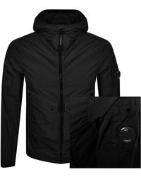 C P Company Cp Company Hooded Jacket - Black
