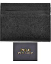 Ralph Lauren Leather Card Holder - Black