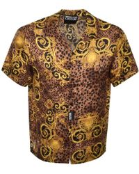 Versace Jeans Couture Short Sleeved Shirt Brown