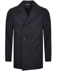 Ted Baker Double Breasted Wool Peacoat - Multicolour