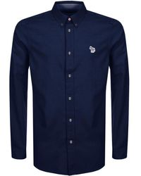 Paul Smith - Ps By Long Sleeved Shirt Navy - Lyst