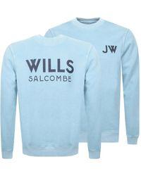 Jack Wills Fairford Graphic Sweatshirt - Blue