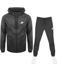 Nike - Hooded Tracksuit Gray - Lyst