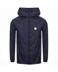 Pretty Green - Lightweight Hooded Jacket Navy - Lyst