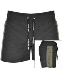 Balmain Logo Swim Shorts - Black