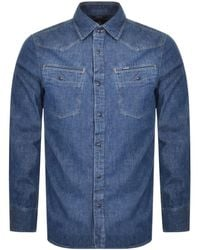 G-Star RAW Raw 3301 Slim Long Sleeved Shirt - Blue