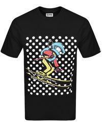 BBCICECREAM Space Ski Logo T Shirt - Black