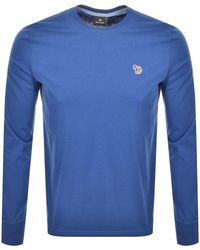 Paul Smith Ps By Long Sleeve T Shirt Blue