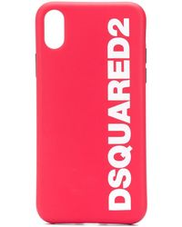 DSquared² Logo Print Iphone 11 Pro Case - Red