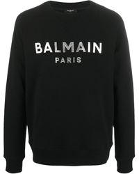 Balmain Foil Logo Sweatshirt Black/silver