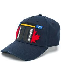 DSquared² Canada Embroidered Baseball Cap - Blue