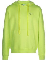 Off-White c/o Virgil Abloh Logo Hooded Sweatshirt - Green