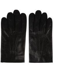 BOSS by HUGO BOSS Grifin Leather Gloves - Black