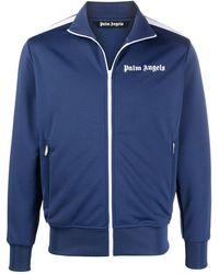 Palm Angels Striped Sleeve Track Jacket - Blue