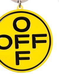 Off-White c/o Virgil Abloh Off-white Circle Logo Keychain - Yellow