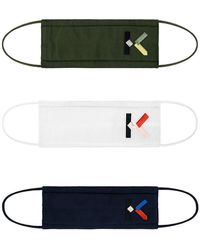 KENZO K Logo Face Masks Pack Of 3 - Black