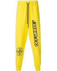Off-White c/o Virgil Abloh Off-white Logo Tracksuit Bottoms - Yellow