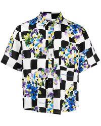 Off-White c/o Virgil Abloh Floral Print Check Shirt - Multicolour