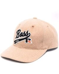 BOSS x Russell Athletic Patch-detail Baseball Cap Beige - Multicolor