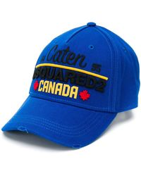 DSquared² Cotton Baseball Cap - Blue