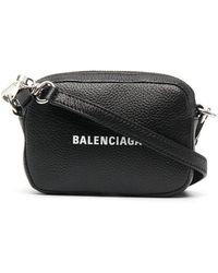 Balenciaga Mini Logo Bag - Black
