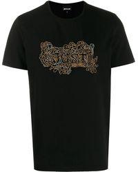 Cavalli Embellished Logo T-shirt - Black