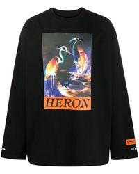 Heron Preston Graphic Print Long Sleeve T-shirt Black