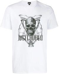 Cavalli Skull Chain T-shirt - Multicolour