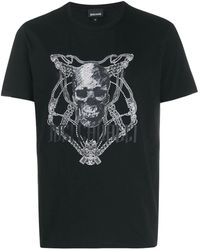 Cavalli Skull Chain T-shirt - Black