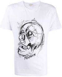 Alexander McQueen Skull Print T-shirt - White