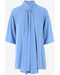 Maison Margiela Draped Blouse - Blue