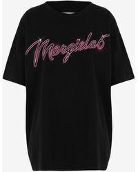 Maison Margiela Margiela 6 Neon Logo T-shirt - Black